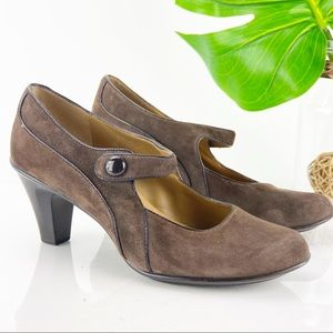 Sundance Sofft Mary Jane Pump Brown Suede Tango